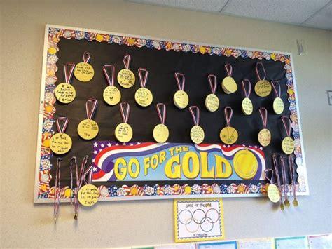 Setting Board Gold go for the gold bulletin board idea setting goals sports olympics theme an