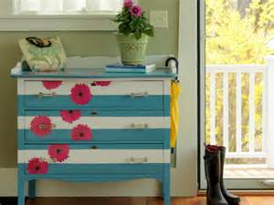 how to make a striped and floral dresser how tos diy