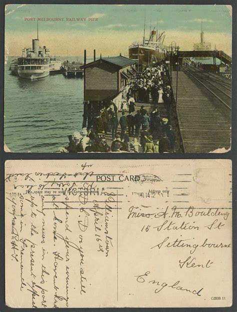 old ferry boats for sale australia australia 1914 old postcard port melbourne railway pier