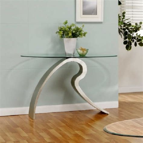 glass console table signature glass console table 9315 furniture in fashion