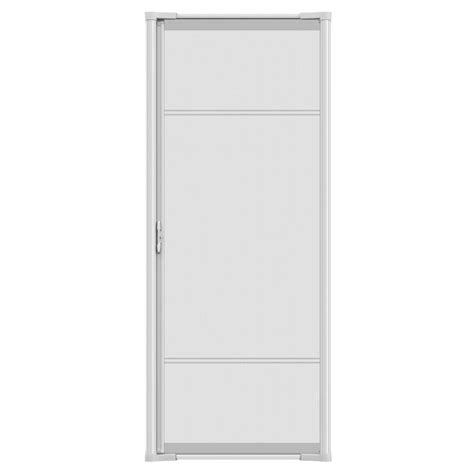 shop odl white aluminum retractable screen door common 36 in x 80 in actual 36 in x 81 in