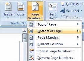 cara membuat no halaman otomatis pada word 2007 arsia3000 cara membuat nomor halaman otomatis pada