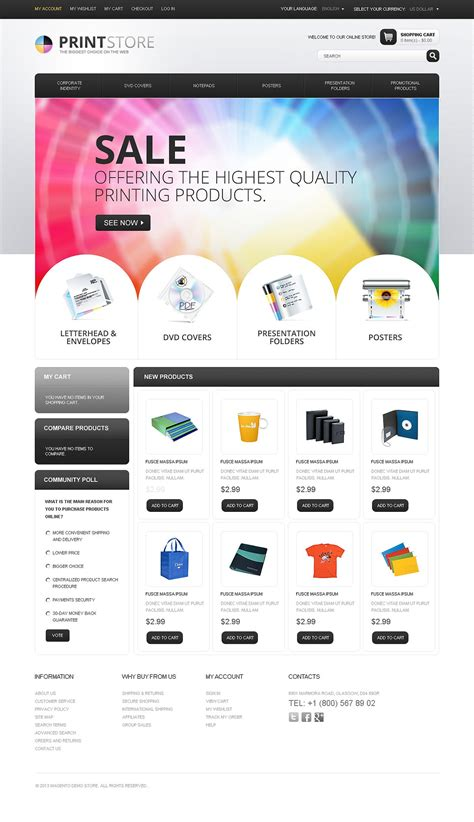 Print Store Magento Theme 44041 Printing Website Template Free