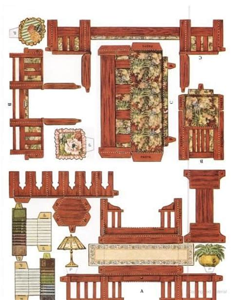 cardboard dolls house furniture templates cut assemble paper dollhouse furniture by american