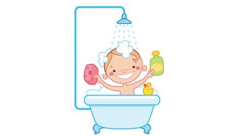 Baby Duck Bathtub Animation Loop Of Happy Cartoon Baby Kid Washing In Bath
