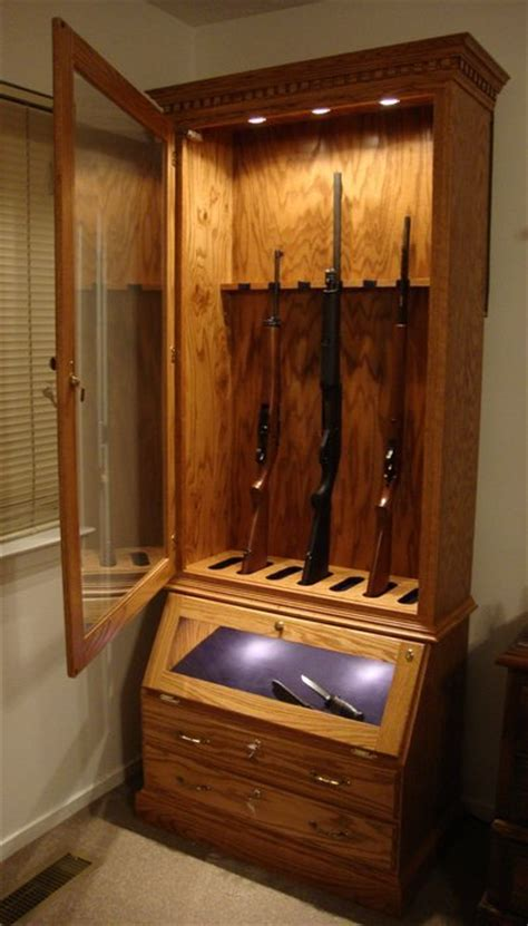 wood and glass gun cabinet download glass door gun cabinet plans plans free