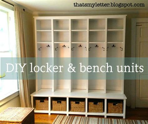 white mudroom locker and bench unit diy projects