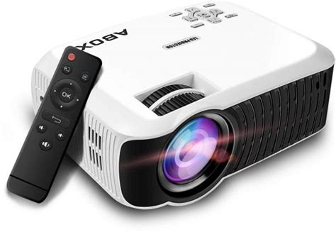 newest abox  portable lcd video projector goobang