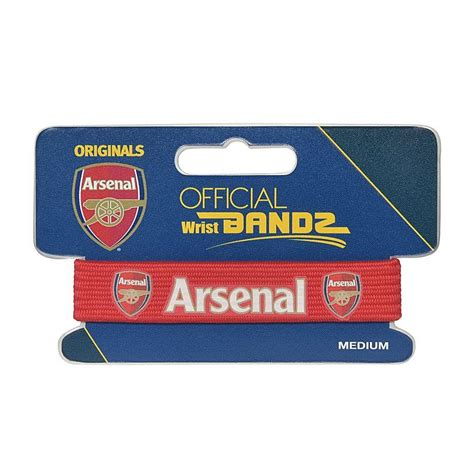 arsenal official arsenal official wristband gift ideas 163 10 and under by