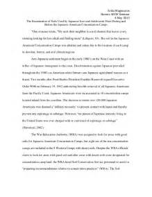 Japanese Internment Essay by Japanese American Internment C Soils Research Paper
