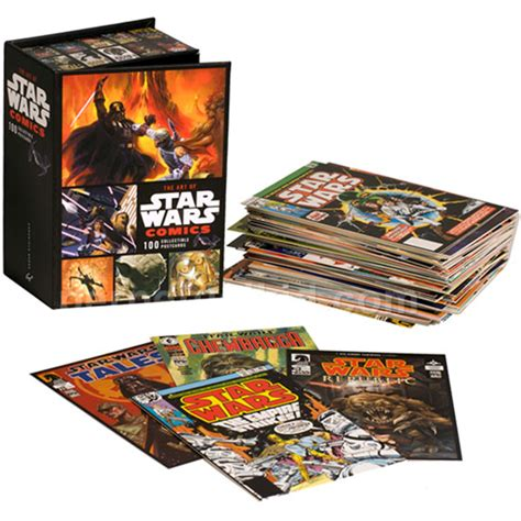 the art box postcards the art of star wars comics 100 collectible postcards