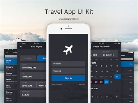The Best Home Design Apps Travel App Ui Kit Sketch Freebie Download Free Resource