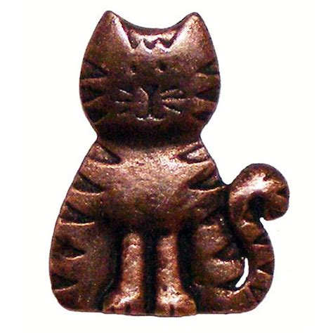 Cat Cabinet Knobs by Whimsical Collection Cat Cabinet Knob 1 3 4 44mm Wide