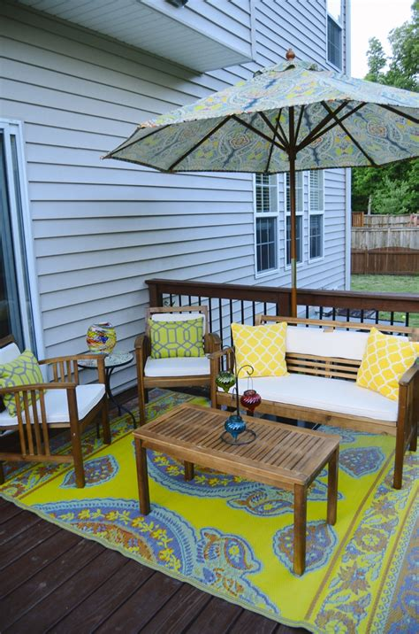 deck orating  mini deck makeover   molly
