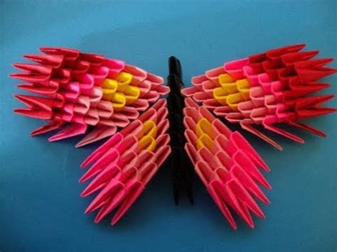 How To Make 3d Butterfly Out Of Paper - how to make a 3d origami butterfly