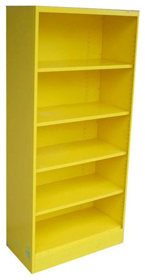 yellow vintage metal bookcase 1970 s 625 est retail
