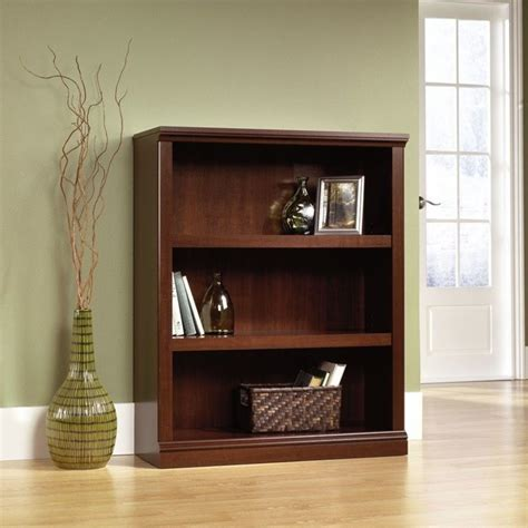 Sauder Bookcase Cherry Sauder 3 Shelf Select Cherry Bookcase Ebay