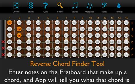Reverse Guitar Chord Finder
