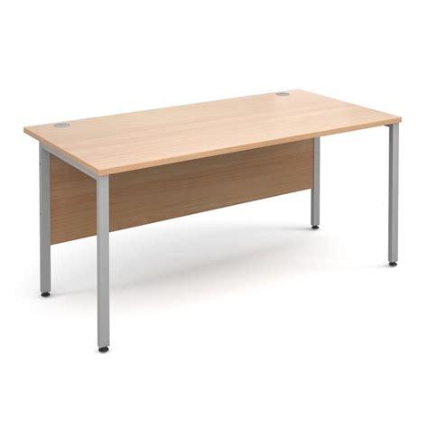 H Frame 1200mm Deep Straight Beech Ergonomic Office Desk Beech Office Desk