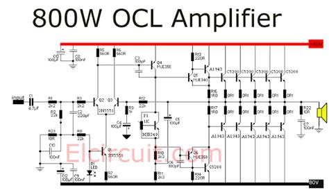 Power Lifier Ocl c5200 transistor lifier circuit diagram 28 images
