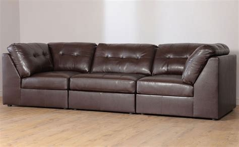 leather modular sectional union brown leather modular sofas s3net sectional