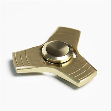 Fidget Spinner Stainless Steel 2 Gold hspinner 360 degree rotation metal triangle spinner