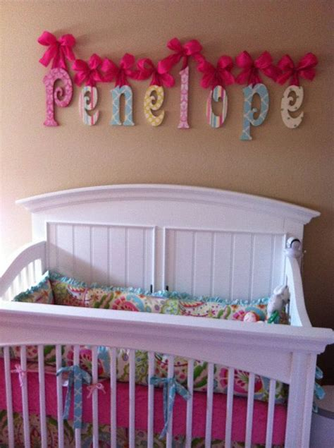 Name Decorations For Nursery Wood Letters Wooden Wall Letters Baby Name Letters Glitter And Sparkle Wooden Name Signs
