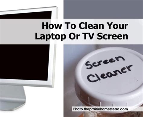 how to clean your laptop or tv screen