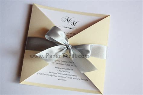 Handmade Invitation Card - triangle cut gate fold wedding invitation card malaysia