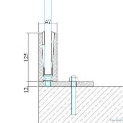 garde corps paroi de verre en profil 233 inox inoxdesign