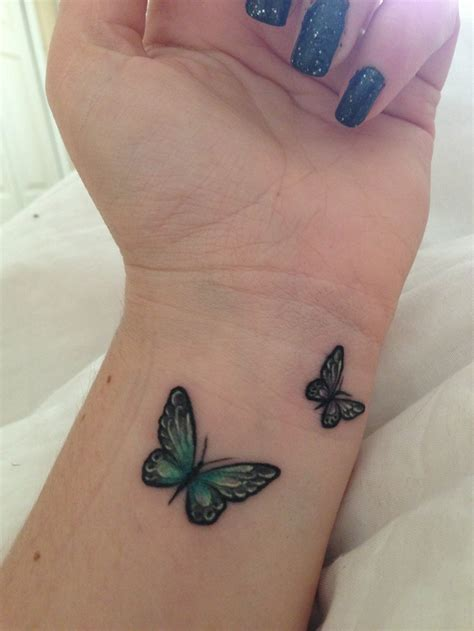 butterfly wrist tattoo a maybe by my believe tattoo