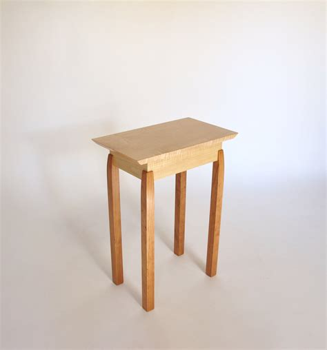 narrow end table tiger maple cherry accent table small end