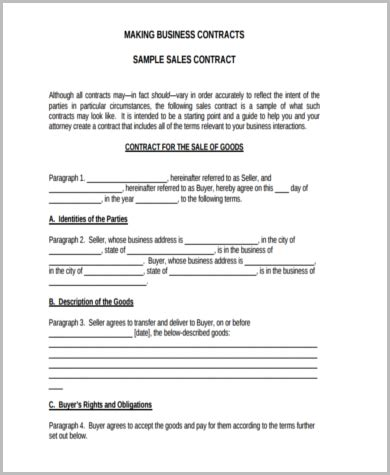 business agreement contract sle business contract 8 free documents in word pdf