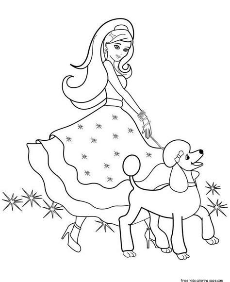 barbie halloween coloring pages printable beautiful barbie coloring pages for girls to