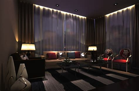 interior lights for house ktv room interior lighting night rendering download 3d house
