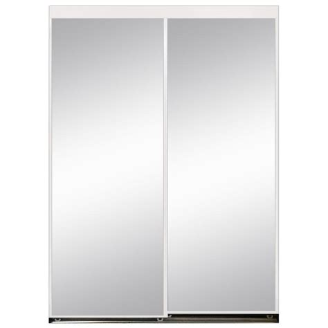 aluminum closet doors 36 in x 80 in polished edge mirror gasket framed