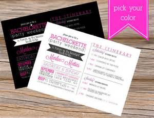 bachelorette weekend wedding invitation diy by sugarqueens