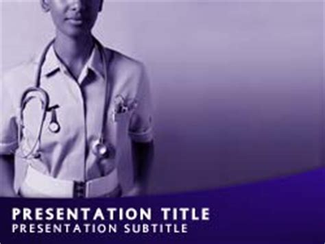 nursing themes for powerpoint 2007 royalty free nurse powerpoint template in purple