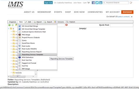 ssrs report templates tutorial adding your own ssrs report template to imis