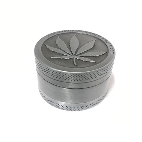 3 Layer Mini 3 layer aluminum mini herb leaf grinder the green wagon