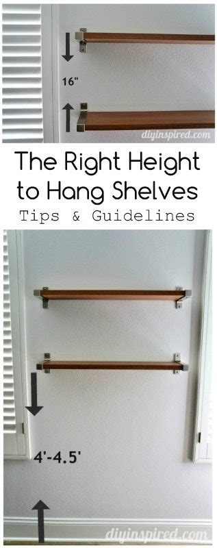what height to hang a picture the right height to hang shelves diy inspired