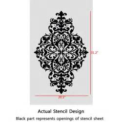 damask stencil yesica large size elegant look better than wallpaper for diy j boutique
