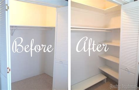 how to add a closet to a small bedroom diy custom closet shelving tutorial reality daydream