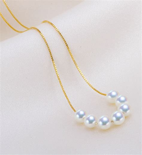 Cup Necklace white akoya pearl tin cup necklace app87654f