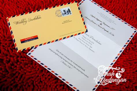 Kartu Undangan Pernikahan Soft Cover Lop 03 undangan softcover airmail isi sc 64