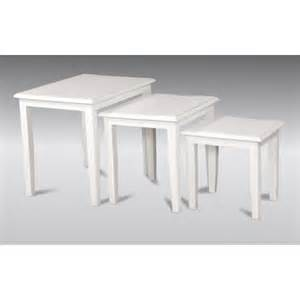 Sofa Leather White Nest Of Tables Minimalist Style French White