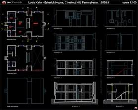 cad house esherick house autocad dwg