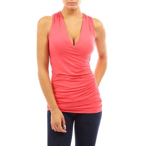 Blouse Tank Top womens sleeveless v neck fitted bloues shirt tank top clubbing tops ebay