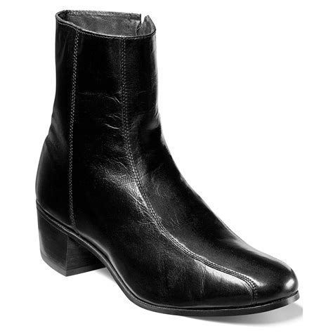 florsheim mens boots florsheim duke bike toe ankle boots in black for lyst