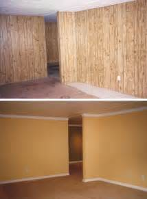 replacing wall paneling update wood panels don t remove replace ask me how